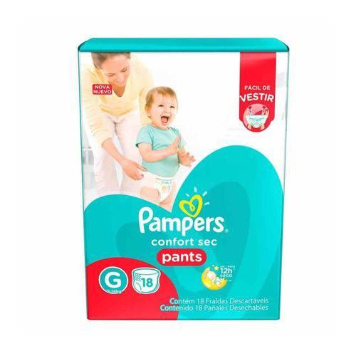 Pampers Comfort Sec Pants Fralda Infantil G C/18