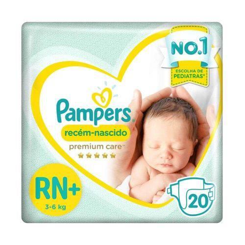 Pampers Premium Care Fralda Infantil Rn+ C/20