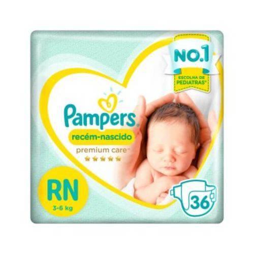 Pampers Premium Care Fralda Infantil Rn C/36