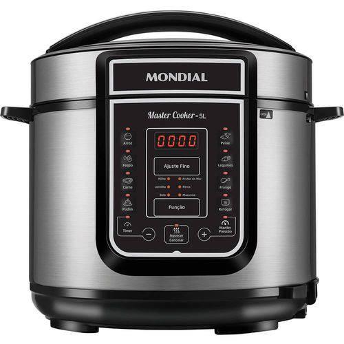 Panela de Pressão Elétrica Digital Master Cooker 5L Preta 900W 220V - Mondial