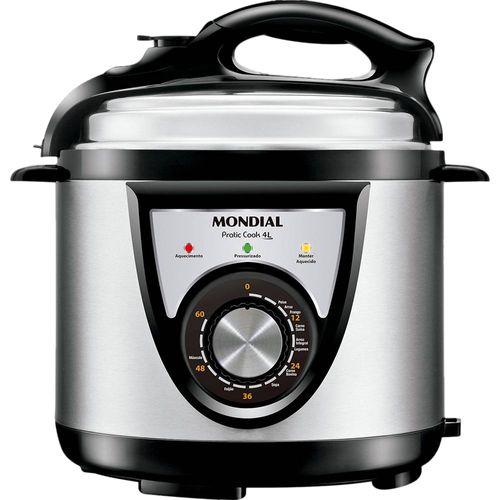 Panela de Pressão Elétrica Mondial Pratic Cook PE-27 4L 110V Panela de Pressão Elétrica Mondial Pratic Cook PE-27 4L 220V