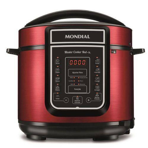 Panela de Pressão Mondial Master Cooker 5l Pe39 Vermelha - 127v