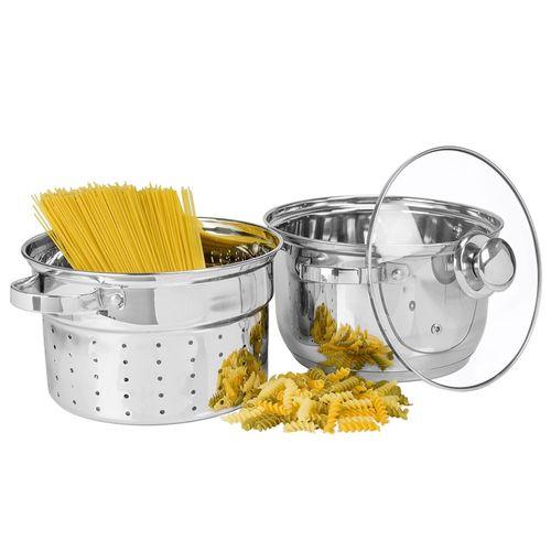 Panela para Pasta com Escorredor em Aço Inox 6 Litros Gourmet Mix