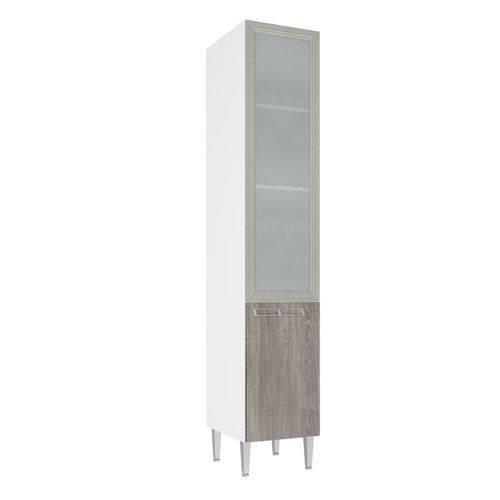 Paneleiro Art In 40Cm 2 Portas com Vidro Branco/Rústico