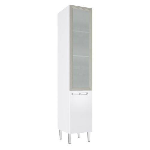 Paneleiro Art In 40Cm 2 Portas com Vidro Branco