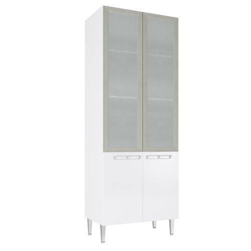 Paneleiro Art In 80Cm 4 Portas com Vidro Branco
