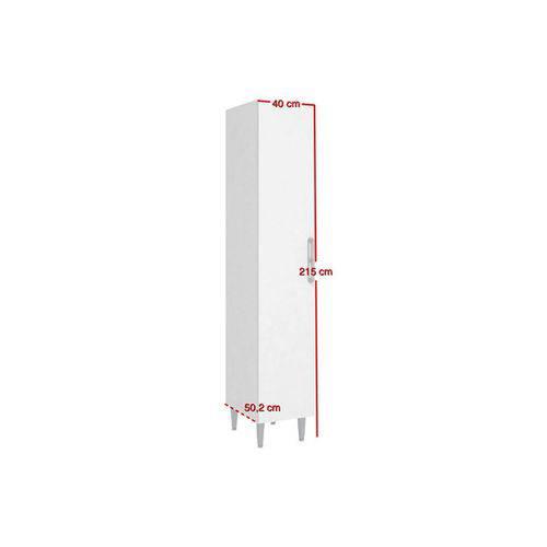 Paneleiro Art In Móveis CZ702 Profundo 1 Porta - Cor Branco C/ Rústico