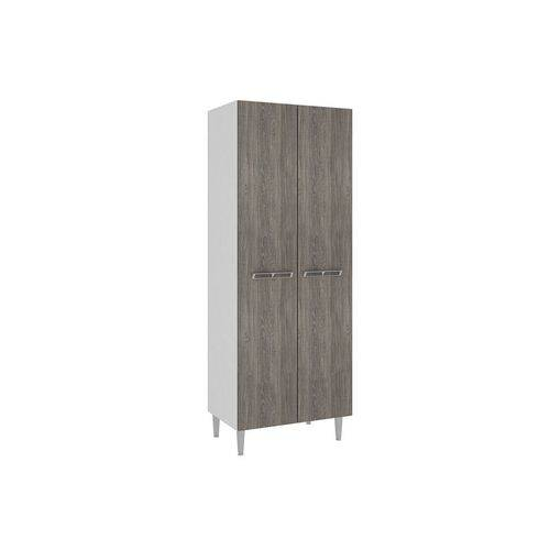 Paneleiro Art In Móveis CZ703 Profundo 2 Portas - Cor Branco C/ Rústico