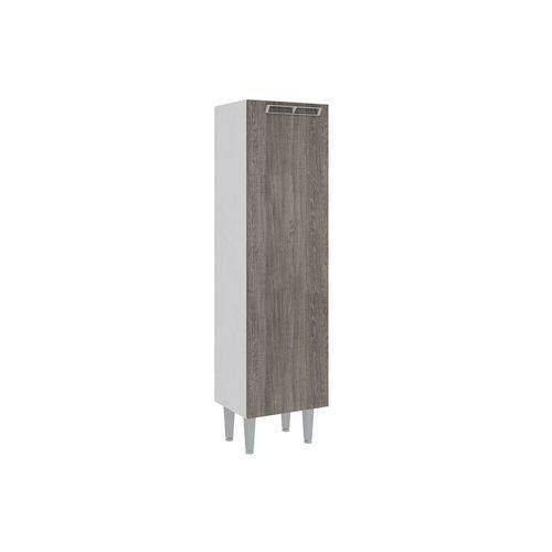 Paneleiro Art In Móveis CZ700 1 Porta - Cor Branco C/ Rústico