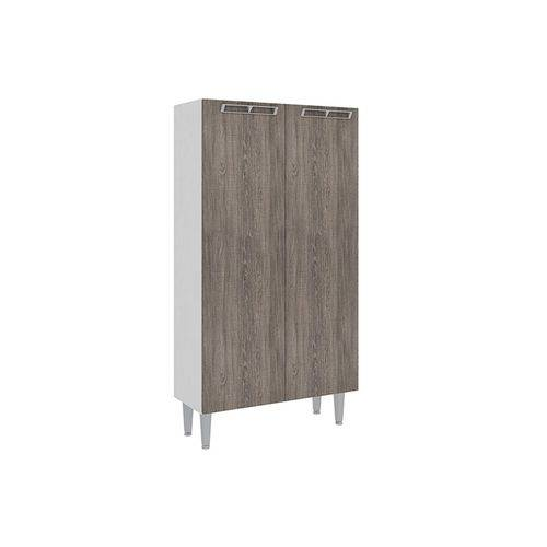 Paneleiro Art In Móveis CZ701 2 Portas - Cor Branco C/ Rústico