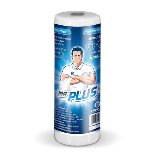 Pano Limpeza Multiuso Perfex Mr.Plus Rolo 30cmX25m Picotado