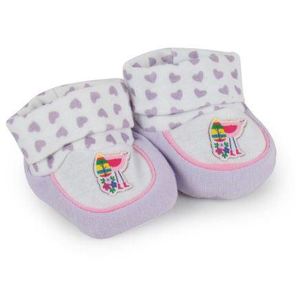 Pantufa Feminina Recém Nascido - Lilás Flamingo - Pimpolho-RN