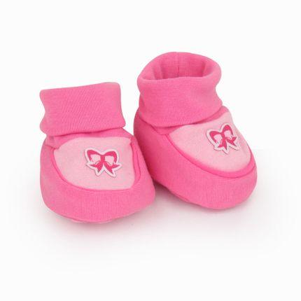 Pantufa Feminina Recém Nascido - Pink Laço - Pimpolho-RN