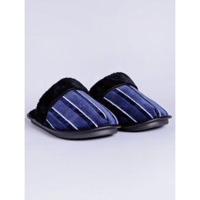 Pantufa Masculina Azul Marinho 42
