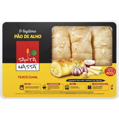 Pão de Alho Santa Massa Bandeja 400g