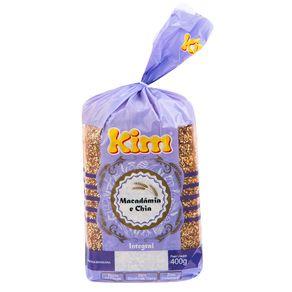 Pão de Forma Integral Macadâmia e Chia Kim 400g