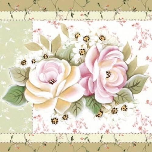 Papel Adesivo Decoupage Quadrado Flor Ii Laq-94 - Litocart
