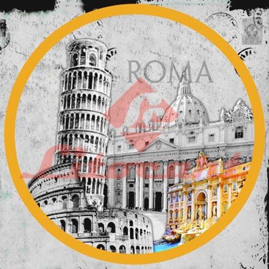Papel Adesivo Decoupage Redondo Roma P LARP-16 Litocart