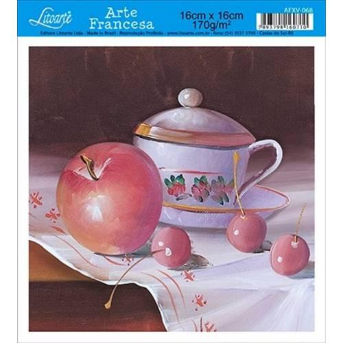 Papel Arte Francesa Litoarte Cozinha Afxv-068