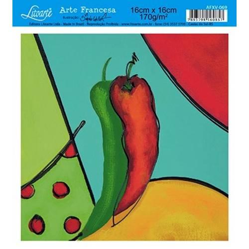 Papel Arte Francesa Litoarte Cozinha Afxv-069