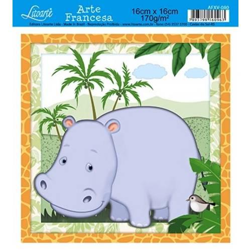 Papel Arte Francesa Litoarte Hipopotamo Afxv-080