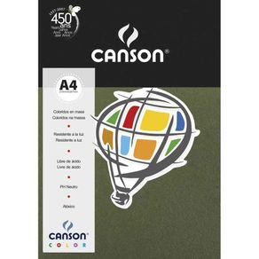 Papel Canson Color 180 Gm² A-4 com 10 Unidades Canson Avulso VERDE SAFARI