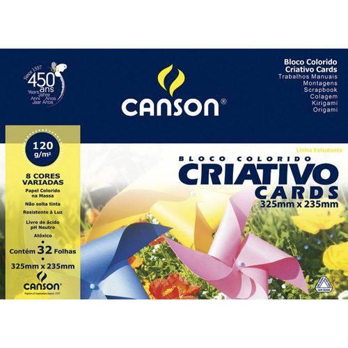 Papel Canson Colorido Criativo 8 Cores - 120g A4+ 32 Folhas