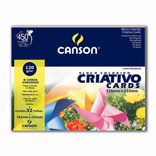 Papel Canson Escolar Criativo 8 Cores A4+ 120g Pacote com 32 Folhas