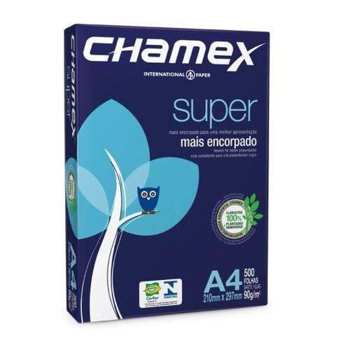 Papel Chamex 500 Folhas Super Mais Encorpado A4 90 Gr