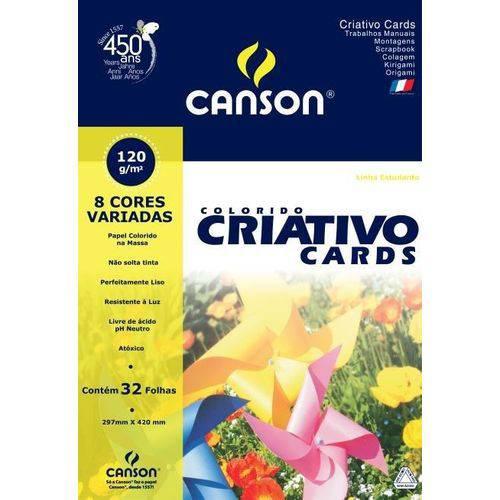 Papel Colorido Criativo Cards 120g A-3