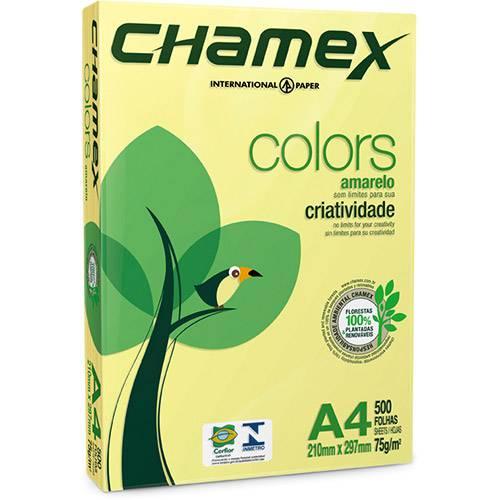 Papel Colors Amarelo A4 (21x29,7cm) - 500 Folhas - Chamex