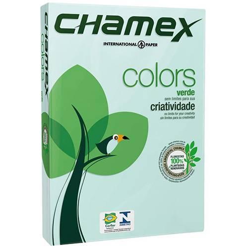 Papel Colors Verde A4 (21x29,7cm) - 500 Folhas - Chamex