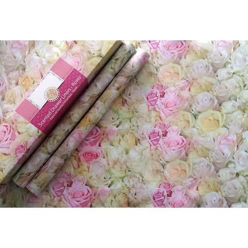 Papel de Gavetas Perfumado Rosas
