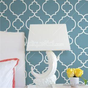 Papel de Parede Adesivo Abstrato Azul Quarto de Casal Arabescos AB14161