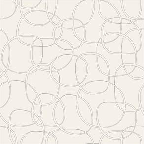 Papel de Parede Adesivo Abstrato Bege Sala de Estar Laços da Amizade AB14118