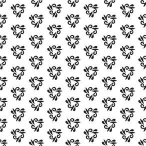 Papel de Parede Adesivo Abstrato Corredores Preto e Branco Arco e Flecha AB14075