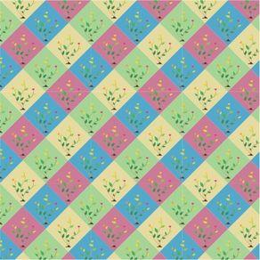 Papel de Parede Adesivo Abstrato Cozinha Colorido Jardm Tracejado AB14019