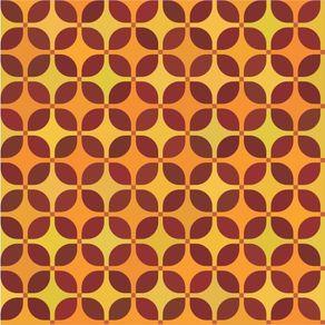 Papel de Parede Adesivo Abstrato Cozinha Vermelho e Amarelo Colmeia AB14060