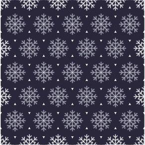 Papel de Parede Adesivo Abstrato Hall Azul Marinho Cristais de Neve AB14089