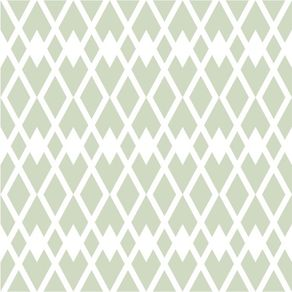 Papel de Parede Adesivo Abstrato Verde e Branco Sala de Jantar Cerca Americana AB14156