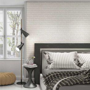 Papel de Parede Adesivo Autocolante Tijolo Rústico Branco TJ14005