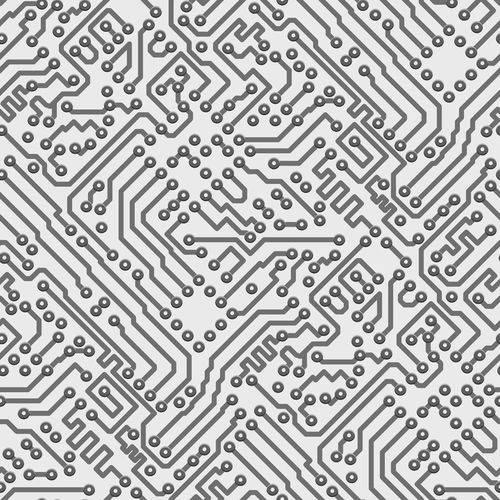 Papel de Parede Adesivo - Circuitos - N0028