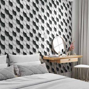 Papel de Parede Adesivo 3D Branco e Preto Quarto e Sala Cool 3D17040