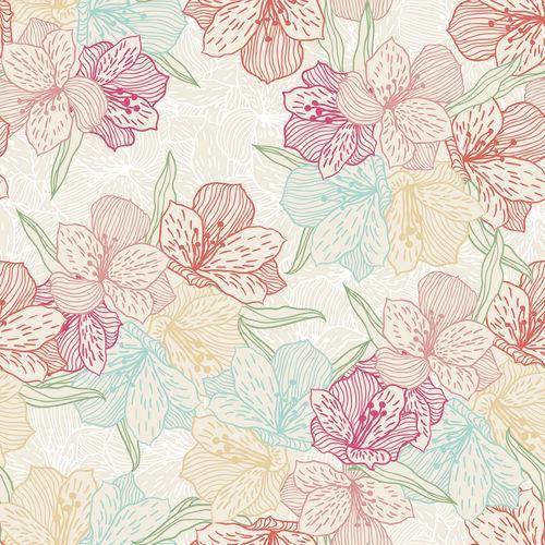 Papel de Parede Adesivo Floral Colorido 2,70x0,57m