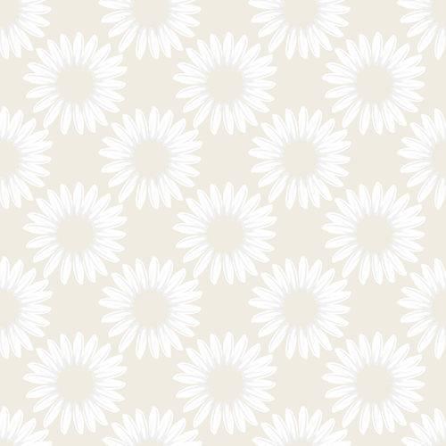 Papel de Parede Adesivo Floral Bege 2,70x0,57m