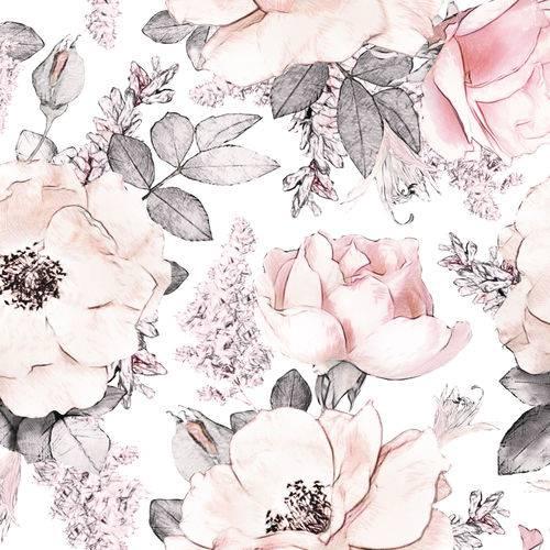 Papel de Parede Adesivo Floral Rosa 2,70x0,57m