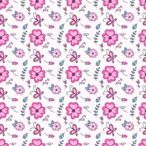 Papel de Parede Adesivo - Flores e Borboletas 3,00m X 59cm