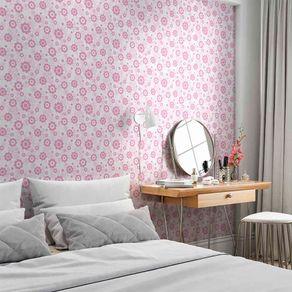 Papel de Parede Adesivo Flores Rosa da Menina FL13050