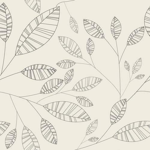Papel de Parede Adesivo - Folhas Riscadas - N0015