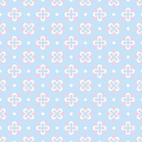 Papel de Parede Adesivo Infantil Azul Clarinha IF12131